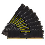 Kit Quad Channel 8 barrettes de RAM DDR4 PC4-19200 - CMK64GX4M8A2400C14 (garantie à vie par Corsair)