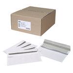 Boite de 500 enveloppes format DL autocollantes à humecter 80g pleine