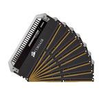 Kit Quad Channel 8 barrettes de RAM DDR4 PC4-21300 - CMD64GX4M8A2666C15 (garantie à vie par Corsair)