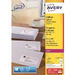 Avery Etui de 2400 étiquettes adresse 63.5 x 33.9 mm pour imprimante laser