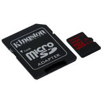 MicroSD 16 Go High Capacity Class 3 avec adaptateur SD (garantie à vie par Kingston)