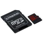 MicroSD 32 Go High Capacity UHS-I U3 avec adaptateur SD (garantie à vie par Kingston)