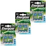 Pack de 12 piles AA (HR06) rechargeables 2300 mAh