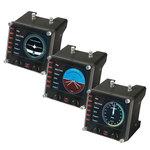 Pack de 3 écrans de contrôle LCD 3.5'' multifonction pour simulateur de vol
