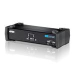 Commutateur KVM DVI USB à 2 ports avec audio et concentrateur USB 2.0 (câbles KVM inclus)