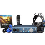 Interface audio/MIDI USB 2.0 2 x 2 + casque circum-auriculaire semi-ouvert + microphone + câbles