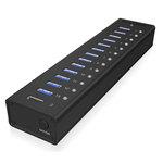 Hub 13 ports USB 3.0 dont un port de charge (coloris noir)