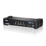 Commutateur KVM DVI Dual Link USB à 4 ports avec audio et concentrateur USB 2.0