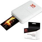 Imprimante photo de poche Wi-Fi iOS et Android + Pack d'impression photo pour imprimante photo nomade XSories PixSprint