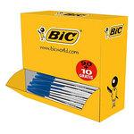 Pack de 90 stylos bille à pointe moyenne 1 mm bleu + 10 gratuits !