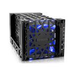 """Boîtier externe pour 4 HDD 3.5"""" avec ventilateurs et LED - SATA / USB 3.0 / eSATA"""