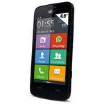 """Smartphone 3G+ Dual SIM - ARM Cortex-A7 Dual-Core 1.2 GHz - RAM 512 Mo - Ecran tactile 4.5"""" 480 x 854 - 4 Go - Bluetooth 3.0 - 2500 mAh - Android 4.4   socle de charge   étui portefeuille"""