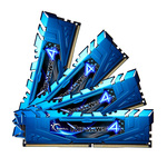 Kit Quad Channel 4 barrettes de RAM DDR4 PC4-24000 - F4-3000C15Q-32GRBB (garantie 10 ans par G.Skill)