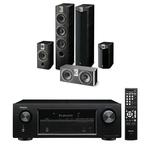 Ampli-tuner Home Cinema 3D Ready 5.2 avec 5 entrées HDMI 2.0 4K Ultra HD, HDCP 2.2 et Bluetooth + Pack d'enceintes 5.0