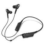 Écouteurs intra-auriculaires sans fil Bluetooth à réduction de bruit active avec télécommande et micro