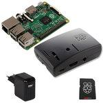 Carte Raspberry Pi 2 Model B + boîtier + carte mémoire avec système d'exploitation pré-chargé + adaptateur secteur