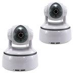 Pack de 2 caméras réseau HD 1.3 MP temps réel intérieure motorisées (Ethernet, Wi-Fi)
