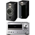 Ampli-tuner CD Réseau DLNA iPod/iPhone + Enceinte bibliothèque (par paire)