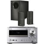 Ampli-tuner CD Réseau DLNA iPod/iPhone + Ensemble d'enceintes stéréo 2.1