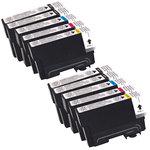 Megapack cartouches compatibles Epson T18XL (2 x cyan, 2 x magenta, 2 x jaune et 4 x noir)