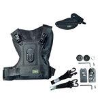 Veste harnais pour appareil reflex avec plateau et poignée de transport