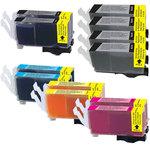 Pack de 12 cartouches d'encre compatible Canon PGI-520 / CLI-521
