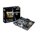Carte mère Micro ATX Socket 1151 Intel B150 Express - SATA 6Gb/s - DDR3 - USB 3.0 - 1x PCI-Express 3.0 16x
