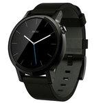 Montre connectée Bluetooth pour homme sous Android Wear certifiée IP67 avec écran LCD tactile 42 mm et bracelet en cuir