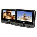 """Double lecteur DVD 7"""" Portable 2 écrans avec port USB et lecteur carte SD/MMC"""