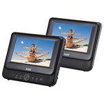 """Lecteur DVD 9"""" Portable double écran avec port USB et lecteur carte SD/MMC"""