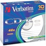 Verbatim CD-R 700 Mo certifié 52x (pack de 10, boitier slim) - Bonne affaire (article utilisé, garantie 2 mois