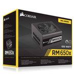 Alimentation modulaire 650W ATX 12V 2.4 / EPS 2.92 - 80PLUS Gold (Garantie 10 ans par Corsair)