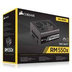 Alimentation modulaire 550W ATX 12V 2.4 / EPS 2.92 - 80PLUS Gold (Garantie 10 ans par Corsair)