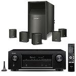 Ampli-tuner Home Cinema 3D Ready 7.2 DLNA AirPlay avec 6 entrées HDMI 4K Ultra HD, HDCP 2.2, Wi-Fi, Bluetooth, Dolby Atmos et DTS:X + Ensemble 5.1