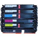 Pack de 5 toners compatibles HP CF21 et Canon 731 (2 x noir, 1 x cyan, 1 x magenta, 1 x jaune)
