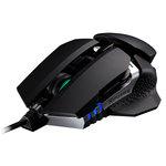 Souris filaire pour gamer - Ambidextre - Capteur laser 8200 dpi - 8 boutons - Rétro-éclairage - Poids ajustable
