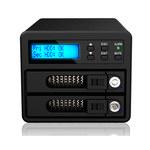 """Boîtier externe RAID 0 / 1 pour 2 disques durs 3.5"""" / 2.5"""" Serial ATA sur ports USB 3.0 / e-SATA"""