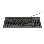 Clavier mécanique à switches Cherry MX marron pour gamer (AZERTY, Français)