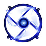Ventilateur LED 200 mm Bleu