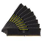 Kit Quad Channel 8 barrettes de RAM DDR4 PC4-21300 - CMK128GX4M8A2666C16 (garantie à vie par Corsair)