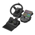 Ensemble complet de simulation (volant + pédalier + panneau de contrôle)