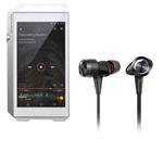 Lecteur High-Res audio HD et DAC 32 Go avec Bluetooth, WiFi et WiFi Direct + Écouteurs intra-auriculaires stéréo dynamique de type fermé