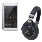 Lecteur High-Res audio HD et DAC 32 Go avec Bluetooth, WiFi et WiFi Direct + Casque circum-auriculaire fermé avec télécommande et micro