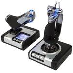 Joystick avec manette des gaz et écran de contrôle pour simulateur de vol + Jeu Elite Dangerous offert !