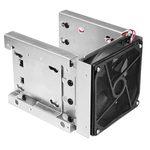 """Adaptateur pour 4 disques durs 3.5"""" et 2 disques 2.5"""" avec ventilateur et filtre dans 3 baies 5.25"""""""