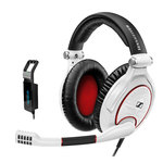 Casque-micro pliable pour gamer + Carte son USB 3D G4ME1 7.1
