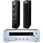 Ampli tuner stéréo 2 x 135 W avec Wi-Fi et Bluetooth + Enceinte colonne (par paire)