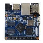 Carte mère avec processeur ARM Cortex A7 Quad-Core 1.2Ghz - RAM 1024 Mo - GPU Mali-400 MP2 - RJ45 - HDMI - 2x USB 2.0 - Wi-Fi N