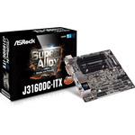 Carte mère Mini ITX avec Processeur Intel Celeron J3160  - 4 x SATA 6 Gb/s - USB 3.0 - port pour alimentation