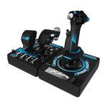 Système de pilotage avancé pour simulateur de vol avec joystick, panneau de contrôle à rétro-éclairage RVB et double manette des gaz (compatible DCS, Flight Simulator, Star Citizen, Elite: Dangerous...)